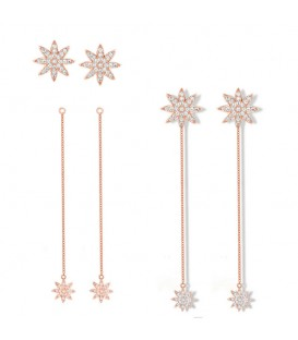 Vixi Nova Detachable Chain Earrings Rose Gold
