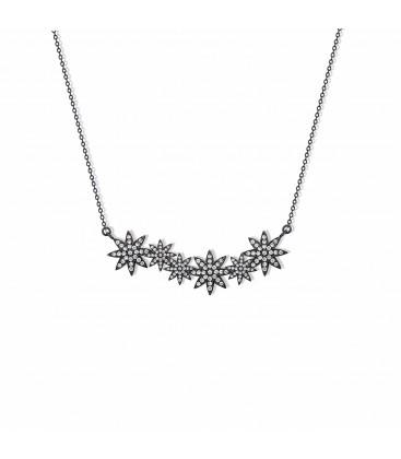 Vixi Nova Star Bar Necklace Black