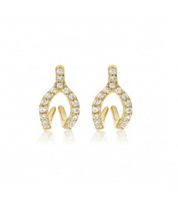 Penny Levi CZ Wishbone Jacket Earrings