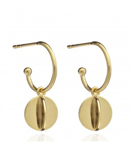Rachel Jackson Mini orb hoop earrings
