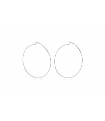 Boho Betty Davis Silver Hoops