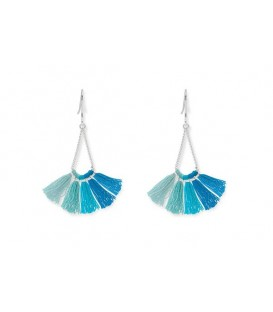 Boho Betty Kai Aqua Ombre Tassel Earrings