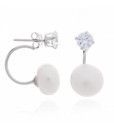 CZ/Pearl Double Earring