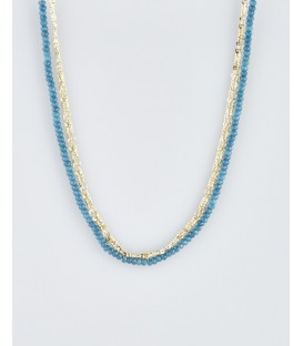 Mark Watson 'William' Necklace Gold/Teal