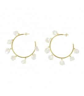 Lucky Eyes Baroque Pearl Large Hoops