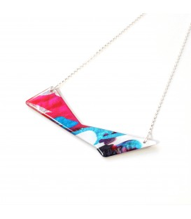 Jojo Blue 'Triangle' Winter Fuchsia Necklace