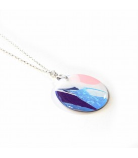 Jojo Blue Rectangle Summer Haze Pendant