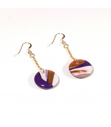 JoJo Blue Autumn Gold Earrings