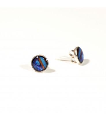 JoJo Blue Small Multi Stud Earrings