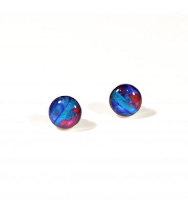JoJo Blue Multi Stud Earrings