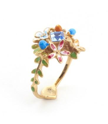 Floral Crystal Ring