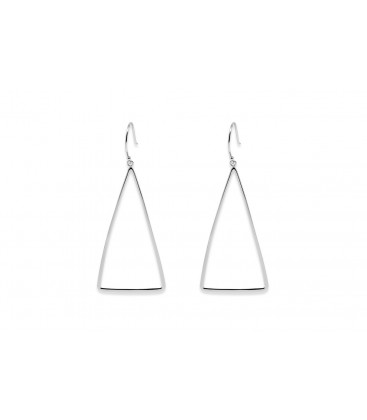 Boho Betty Tani Triangle Earrings Silver