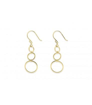 Boho Betty Lockwood 3 circle Earrings gold
