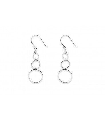 Boho Betty Inescort 3 Circles Earrings Silver