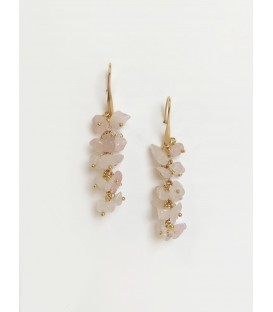 Bcharmd Emily Rose Quartz Earrings Gold
