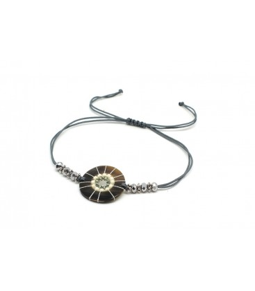 Boho Betty Hornpipe Silver Grey Friendship Bracelet