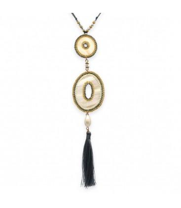Boho Betty Euterpe Long Grey Tassel Necklace