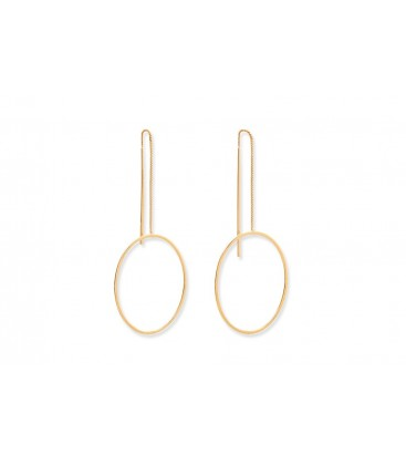 Boho Betty Emilia Gold Thread Through Hoop Earrings
