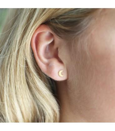 Mismatch Moon & Star Earrings Gold