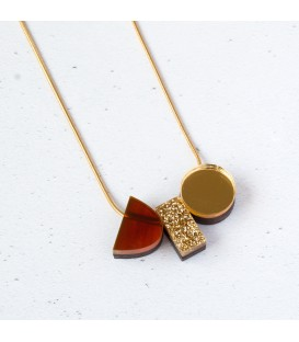Emma Necklace - Tortoiseshell /Gold