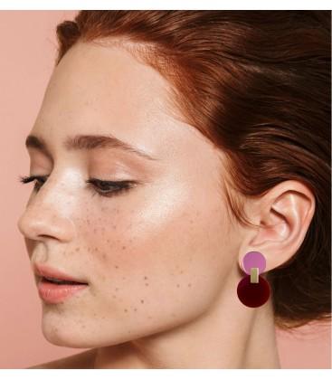 Daphne Earrings - Maroon