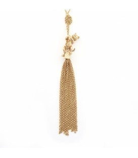 Bill Skinner Kitten Tassel Necklace