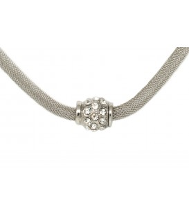 Silver Choker with Crystal