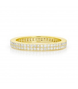 Lucky Eyes Double Band Eternity Ring