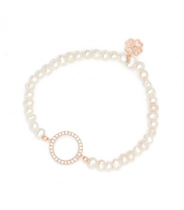 Pearl Beaded Bracelet with Circle of Life