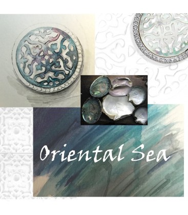 Oriental Sea white shell pendant