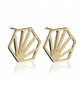 Rachel Jackson Hexagon Earrings