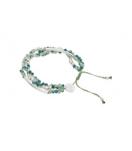 Boho Betty Kazoo 3 Strand Green Crystal Friendship Bracelet