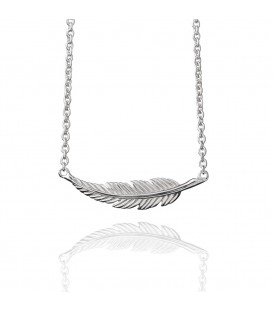 Muru Horizontal Feather Necklace