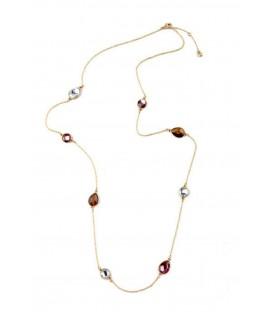 Long chain with multi teardrop gems