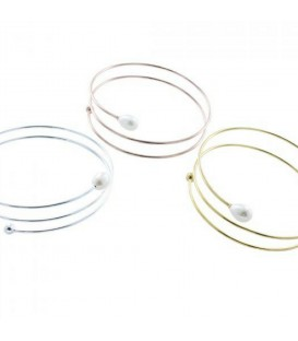 Coil Pearl Bangle