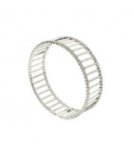 Silver Crystal Cuff