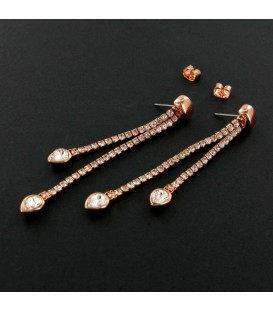 Long Crystal Pear Drop Earring
