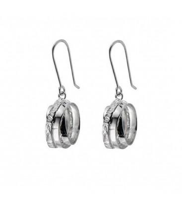 Chris Lewis Wound Hoop Earrings
