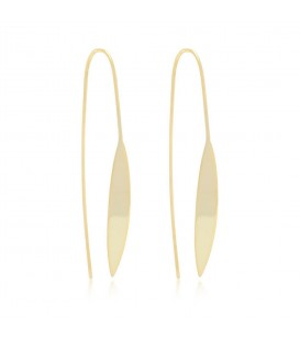 Boho Betty Cyrus Gold Spear Thread Through Earrings