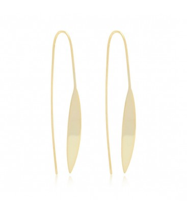 Boho Betty Gold Spear Thread Through Earrings